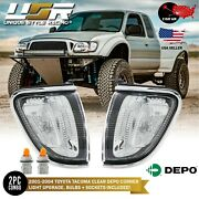 2 Day Air To Hawaii Chrome Frame Clear Corner Light For 2001-2004 Toyota Tacoma