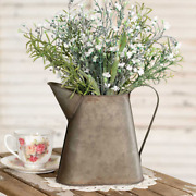 8.25 Tall Metal Pitcher With Handle - Farmhouse, Country Decor