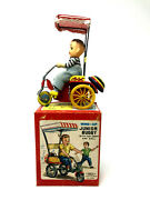 Haji Junior Buggy With Sun-shade And Bell Wind-up Vintage 1960and039s