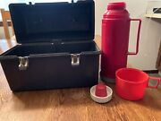 Thermos Grey Plastic Lunchbox - Lunch Bucket Vintage
