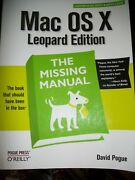 Mac Osx Leopard The Missing Manual Pogue Book That Should Have Been In Box Pback