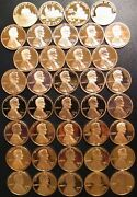 19762009 S Lincoln Penny Choice Gem Proof Run 37 Coin Decade Set Us Mint Lot