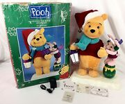 Vtg Xmas Animated 21 Winnie Pooh And Piglet Telco Disney Motionette Lighted 1997
