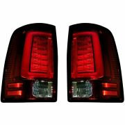 Recon Red Oled Tail Lights For 09-18 Dodge Ram Equipped W/ Oe Halogen Tail Light