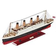 Rms Titanic Ocean Liner Scaled Replica Nautical Vessel Ship Model With Stand 31