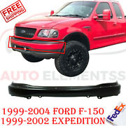 Front Bumper Primed Steel W/ Pad Holes For 99-2004 Ford F-150 / Expedition 99-02