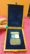 Rare Silver Medal In Olive Wood Box Jewish National Fund To Australian Diplomat