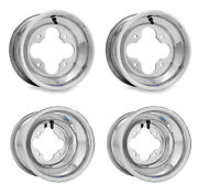 Dwt Polished A5 Rolled Lip 10 Front And 10 Rear Wheels Rims Honda 450r 400ex 250