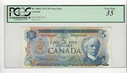 1972 Canada 5law/bou Rs 8352642 Bc-48bt Pcgs Vf-35 Test Note