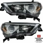 New Oem 2014-2020 Toyota 4runner Front Headlights And Bulbs Right And Left 2 Pc Set
