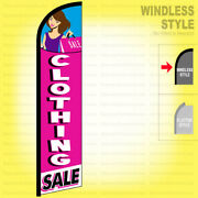 Clothing Sale - Windless Swooper Flag 2.5x11.5 Ft Tall Feather Banner Sign Pf