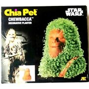 Chia Pet Pottery Planter Chewbacca Star Wars Decorative Planter, Tray And Seeds