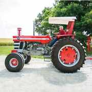 Tractor Canopy And Support Frame - Metal Compatible With Massey Ferguson 1080