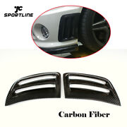 Front Side Air Vent Grill Trim For Benz W204 C63 Amg 2008-2011 Carbon Fiber