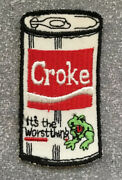 Original Vtg Croke Itandrsquos The Worst Wacky Packages Style Sew On Cloth Patch 3.75andrdquo