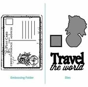 Ultimate Crafts - Embosser And Dies 2 In 1 Combo Set Travel The World Ult157148