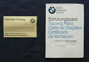 1982-87 Bmw Motorcycle Technician Training Pass Certification Booklet + Extras