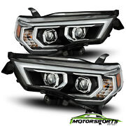 Fit 2014-2020 Toyota 4runner Led Drl/signal Black Projector Headlights Pair