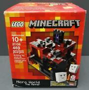 New/sealed Lego Minecraft Micro World The Nether 469pc Building Kit 21106