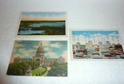 Vintage Lot Of 3 Rppc Postcards Austin And Fort Worth Texas S-33