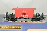 Ho Scale Bluford Shops Chicago And Eastern Illinois Ry Transfer Caboose Car Train