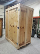 Large Wooden Shipping Crate Hinged Doors