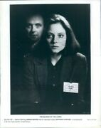 1991 Press Photo Hannibal Lecter Behind Clarice Hopkins Foster Silence Of Lambs
