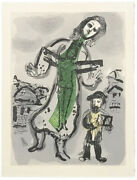 Marc Chagall Ou Est Le Jour 1968 | From Les Poemes | Rare Woodcut | Gallart