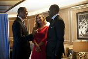 Barack Obama And Beyonce Happy Talking 8x10 Picture Celebrity Print