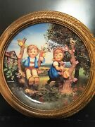 Vintage 1991 Hummel Plate Apple Tree Boy And Girl From Danbury Mint