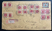1922 Free Danzig Early Inflation Rate Registered Cover To Chicago Il Usa Sc77