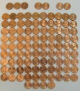 Lincoln Cent Penny Set 1959-2021 Collection 141 Coins Choice Bu Mem And Shield