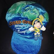 Disney Sea Tokyo 2001 Grand Opening Limited Edition Mickey Mouse Newsboy Hat Cap