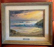 Earl Macpherson Original Painting Oil On Canvas Signed Seascape Framed Art
