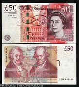 Great Britain 50 Pounds New 2010-2018 Queen Machine Chris Salmon Unc Uk Note