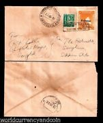 Sikkim State 20 1981 Revenue Stamp Used As Postage Cover India Postal History