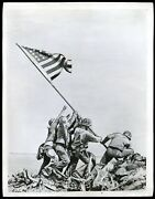 1945 Wwii Iwo Jima Flag Raising Us Marines Original Wire Photo By Joe Rosenthal