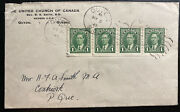 1945 Quyon Canada Coil Stamp Cover United Church