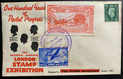 1937 London England First Day Cover Fdc 2nd Annual Stamp Exhibition Red