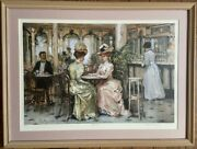 Alan Maley Signed Tell Me Framed Victorian Era Style Lithograph Art Print /450