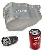 Ppe Raw Deep Oil Pan With Oil And Transmission Filters For 01-10 Gm 6.6l Duramax