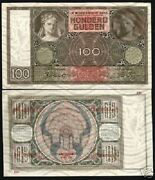 Netherlands 100 Gulden P-51 B 1941 Pre Euro Rare Unc Currency Money Bank Note