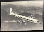 Mint Italy Picture Postcard Alitalia Airlines Airplane Wright 4 Motor