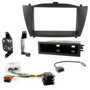 Hyundai Ix35 Double Din Car Stereo Facia Panel Fitting Kit For Amplified Systems