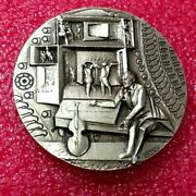 Famous Gay Pyotr Tchaikovsky Art Silver Medal By Biancini Angelo Jewish Story
