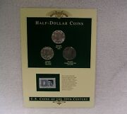 U.s. Coin Of 20th Century - Kennedy Half Dollars - Postal Panel Coin And Stamp