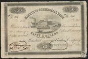 Mauritius 50 Dollars P S125 1840 Ship Building Rare Currency Bill Bank Note