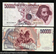 Italy 50000 Lira P113 1984 Horse Euro World Currency Paper Money Bill Bank Note