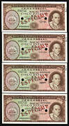 Macao 4 Diff 5 Patacas P-54 1976 Specimen Ship Unc Currency Portugal China Note