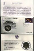 Russia 1980 Moscow Olympic Rowing Silver Coin + Fdc Unc Stamp Cccp Ussr